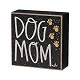 Dog Mom Box Sign with Paws - 4-in Collins Painting Design EB-8384
