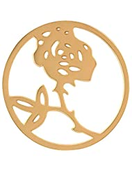 MS Koins Stainless Steel Rose Coin Yellow Gold Plated Fits Our Coin Locket System, 30mm Diameter