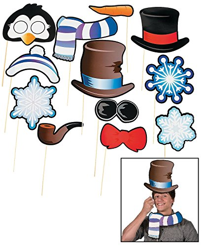Snowman & Penguin Photo Stick Props (12 Pack) 7