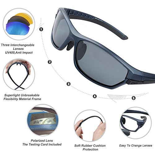 bf2ddbb081 Duco Polarised Sports Mens Sunglasses for Ski Driving Golf Running ...