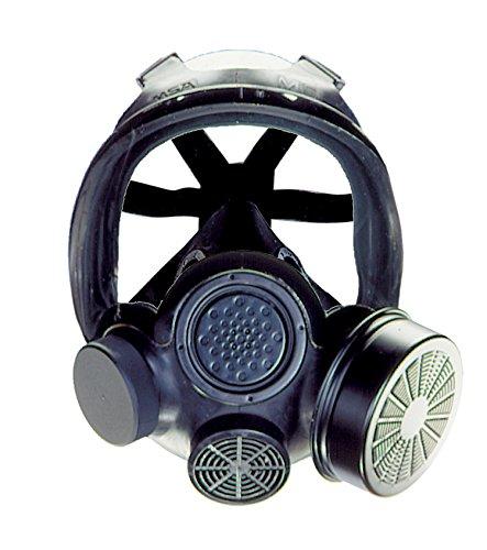 MSA 813859 Advantage 1000 Riot Control Gas Mask, Medium, Black