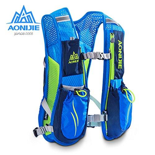 Aonijie Mochilas 5l Trail Gris Sac Gilet Dos Race Hydratation 1 D'hydratation Marathoner À Running Extérieur 5 00qnrC