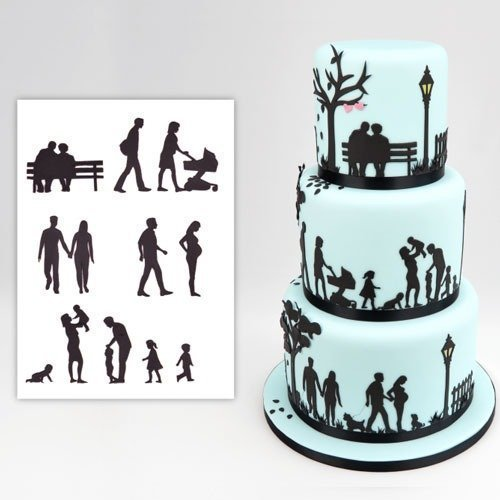Family Silhouette - Patchwork Cutters - Family Silhouette Set - Sugarcraft and Cake Decoration Cutters by Patchwork Cutters