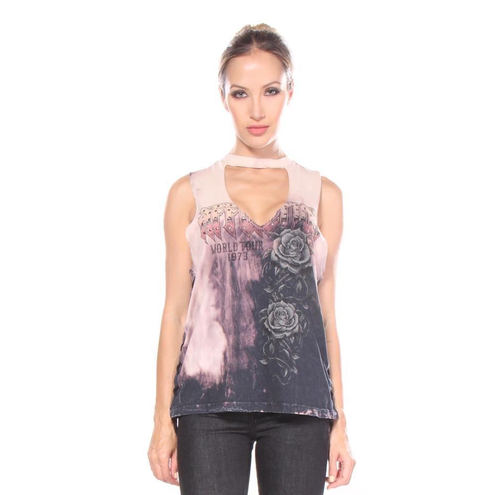 Mangas Affliction Camisetas Mujeres Tour Amazon Of L Sin Roses frwFqXr