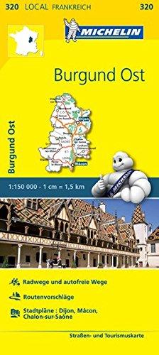 Michelin Burgund Ost: Straßen- und Tourismuskarte 1:150.000 (MICHELIN Localkarten)