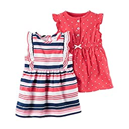 Carter\'s Baby Girls\' 3-Piece Set Dress and Bottoms