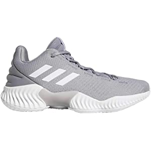 c4be778c46afb adidas Men s Pro Bounce 2018 Low Basketball Light Onix White Light Onix