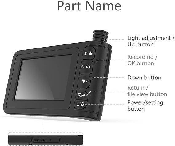 Kkmoon Endoskop Handheld Industrie Endoskopkamera 4 Zoll High Definition Inspektionskamera 1080p Bildschirm Ip67 Wasserdicht Mit 8 Led Licht Deutsch Baumarkt