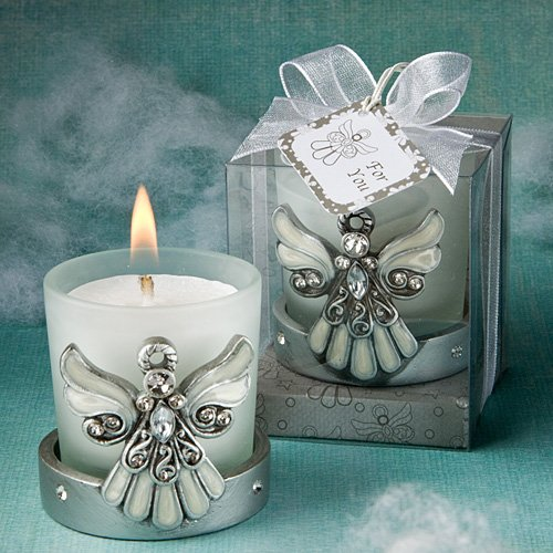 Regal Favor Collection angel themed candle holders (Set of 48)