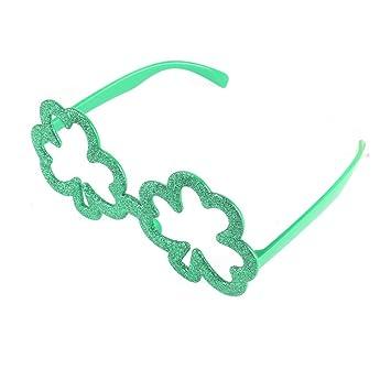 12 x Grün Kleeblatt Form St. Patricks Tag Kinder Kinder Sonnenbrille kI4Q49I