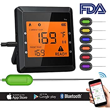 Amazon Com Bluetooth Meat Thermometer Instant Read