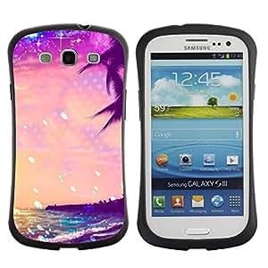 Fuerte Suave TPU GEL Caso Carcasa de Protección Funda para Samsung Galaxy S3 I9300 / Business Style Summer Sea Stars Vibrant Sunshine