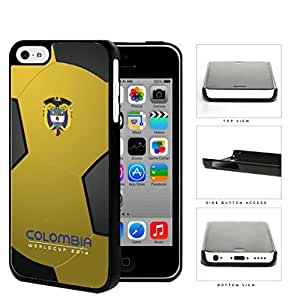 Colombia World Cup 2014 Professional Soccer Pattern Hard Snap On Cell Phone Case Cover iPhone 5c by lolosakes