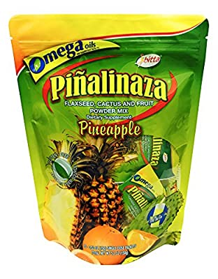 Ibitta Pinalinaza On The Go - Flax and Fruit Powder Natural Colon Cleanse Detox, Weight Loss Formula for Constipation Relief, Reduces Bloating 10 Single Dose Packets 5.2 oz
