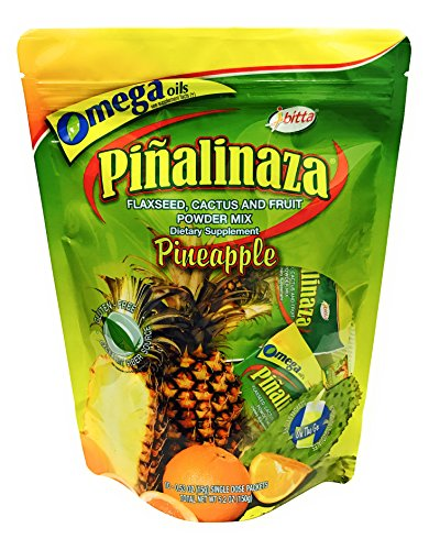 Ibitta Pinalinaza On The Go - Flax and Fruit Powder Natural Colon Cleanse Detox, Weight Loss Formula for Constipation Relief, Reduces Bloating 10 Single Dose Packets 5.2 (Reduce Weight Fruit)