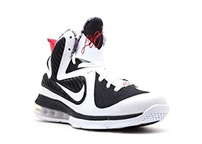 save off cecb9 a1eaa Amazon.com | Nike Lebron 9 (GS) Big Kids Basketball Shoes White/White-Black-Sport  Red 472664-101-5.5 | Fashion Sneakers