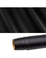 Gudong Lederen patch, een rol zelfklevende lederen patch, DIY kunstleer voor autostoel bank meubels leder reparatie en renovatie 42 x 137 cm (zwart)