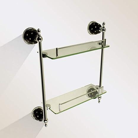 MALLTY Colgador de suspensión de baño de Vidrio de Acero ...