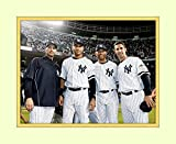 Core Four 4 At Yankee Stadium 8x10 Matted 5x7 Photo Derek Jeter Mariano Rivera Andy Pettite Jorge Posada Ny Yankees