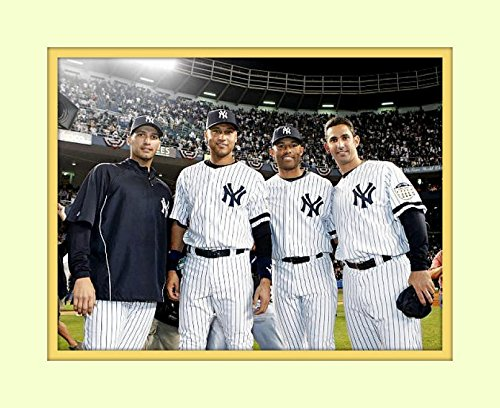 Core Four 4 in their Prime At Yankee Stadium 8x10 Matted 5x7 Photo Derek Jeter Mariano Rivera Andy Pettite Jorge Posada NY Yankees