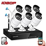 [Expandable System] Wireless Security Camera System, YESKAMO 8CH 1080p Video Surveillance System with 2TB HDD 6pcs 1080p (2.0 MP) Home Outdoor Wireless IP Cameras Night Vision CCTV Camera System