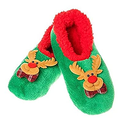 f5a5b803493 Snoozies Christmas Cameos Assorted Medium 5-6 Reindeer  Amazon.co.uk ...