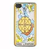 Wheel Of Fortune Tarot iPhone 4 4S Hard Case Back Cover D-125