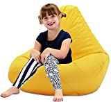 GARDEN FURNITURE Yellow Water Resistant Beanbag Lounger For Kids Perfect For Indoor or Outdoor Bean bags