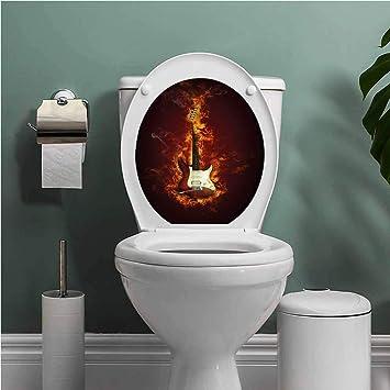 Incredible Amazon Com Thinkinghome Guitar Toilet Seat Tattoo Cover Machost Co Dining Chair Design Ideas Machostcouk