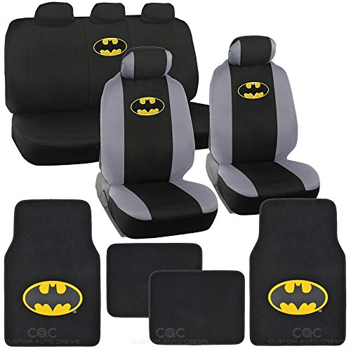Cute Car Floor Mats (Batman Seat Cover & Floor Mat for Car - Warner Brothers Auto Accessories, Original Series, Officially Licensed Products)
