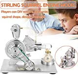 KILLYSUFUY Low Temperature Stainless Steel Stirling Engine Education Toy Model Kit Run Off The Temperature Difference Hot Air Stirling Engine Steam Motor hot air Engine