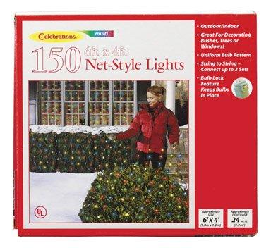 celebration 150 indooroutdoor net style lights multi color - Christmas Tree Net Lights
