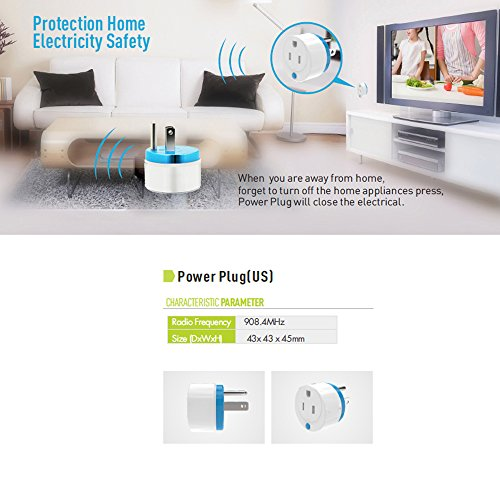 Z-Wave Smart Outlet, Zwave Plug Home Automation Mini Z Wave Socket Work With Wink, Smartthings, Vera, Zipato, Iris and Fibaro (3 pack) By HAOZEE ¡ by HAOZEE (Image #3)