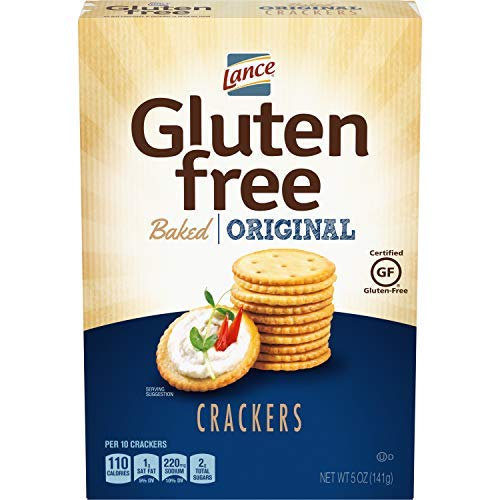 Lance Gluten Free Baked Crackers, Original, 5 Ounce (Pack of 4)-SET OF 4