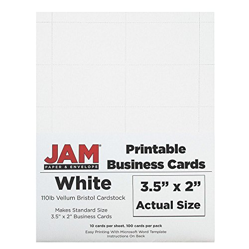 JAM Paper Printable Business Cards - 3 1/2