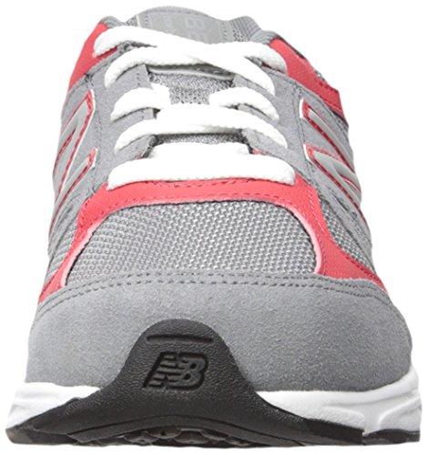New Balance KJ888V1 Grade Running Shoe (Big Kid), Grey/Red, 3.5 M US Big Kid