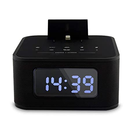 Bluetooth Wireless Speaker Smartphone Power Charger Music Player Alarm Clock