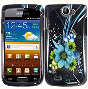 Blue Flower Hard Case Cover for Samsung Exhibit 2 II T679