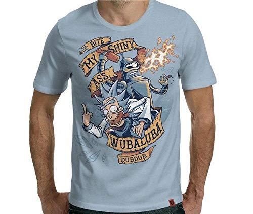 Camiseta Rickenrama Cor:azul Aço;tamanho:g