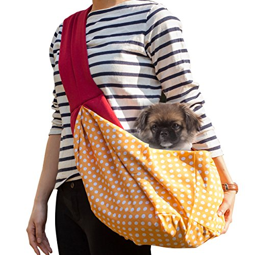 timetuu-buy-hands-free-dog-carrier-sling-soft-zipped-pocket-waterproof-bag-for-small-dogs-cat-rabbit