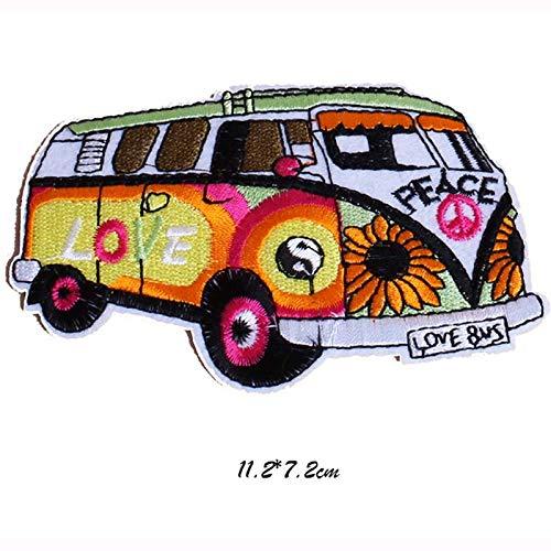 para Pegatinas de Ropa Parches Bordados para Ropa Shoppy Star Peace and Love Bus Ropa al por Mayor: Love Bus
