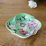 The stained home ornaments ceramic plates bathroom manually soap box round living room ashtray smoke Disc Ceramic C
