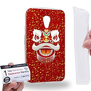 Case88 [Motorola Moto G (2nd Gen.)] Gel TPU Carcasa/Funda & Tarjeta de garantía - Art Chinese Southern Lion The Liu Bei Lion Art2044