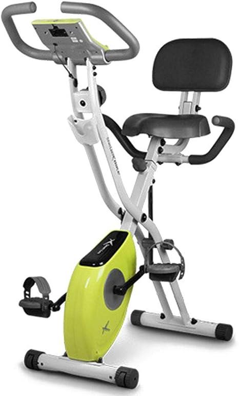 Bicicleta de ejercicio magnética plegable, vertical con equipo de ...