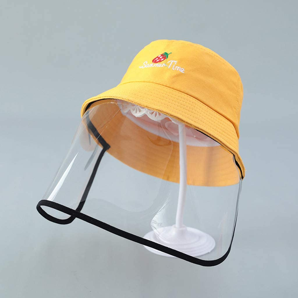 Homestar Adult Cartoon Protective Transparent Adjustable Shield Anti-saliva Windproof Dustproof Hat Full Face Shield Protect Eyes and Face with Protective Clear Film Elastic Band
