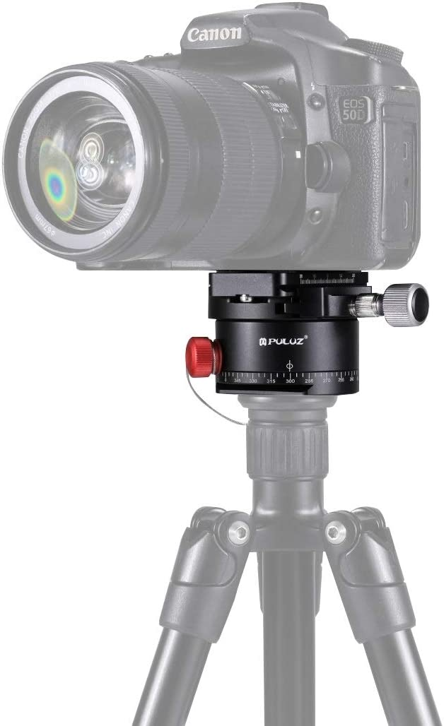 MEETBM ZIMO,Aluminum Alloy Panoramic Indexing Rotator Ball Head with Quick Release Plate for Camera Tripod Head