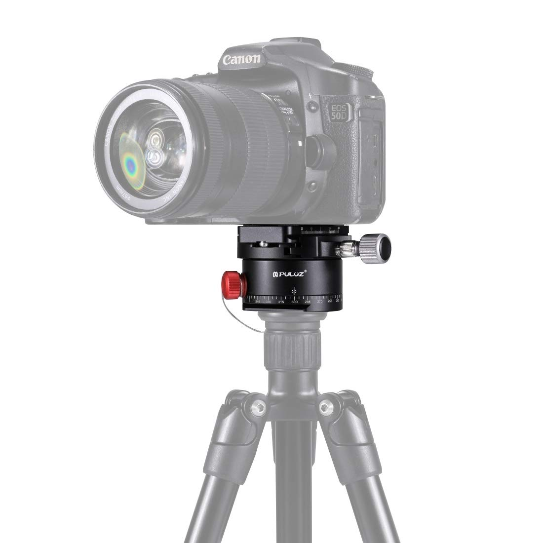 HEGUANGWEI Camera Mount Aluminum Alloy Panoramic Indexing Rotator Ball Head with Quick Release Plate for Camera Tripod Head Photography by HEGUANGWEI