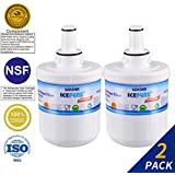 Golden Icepure DA29-00003G Refrigerator Water Filter Replacement for Samsung DA29-00003G, HAFCU1, DA29-00003A Water Filter (Pack of 2)