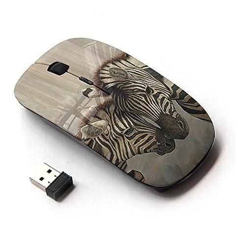 KOOLmouse [ Optical 2.4G Wireless Mouse ] [ Zebra Brothers Love ] (Wireless Mouse Zebra)