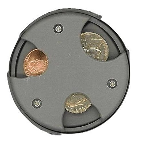 COIN MATE Pocket Organizer Change Holder - Great Gifts for Mens Wallet, Womens Purse, Double Sided Slots for U.S. Quarters, Dimes, Nickels, Pennies, Euros, 2017 Money Organizer for Car Travel